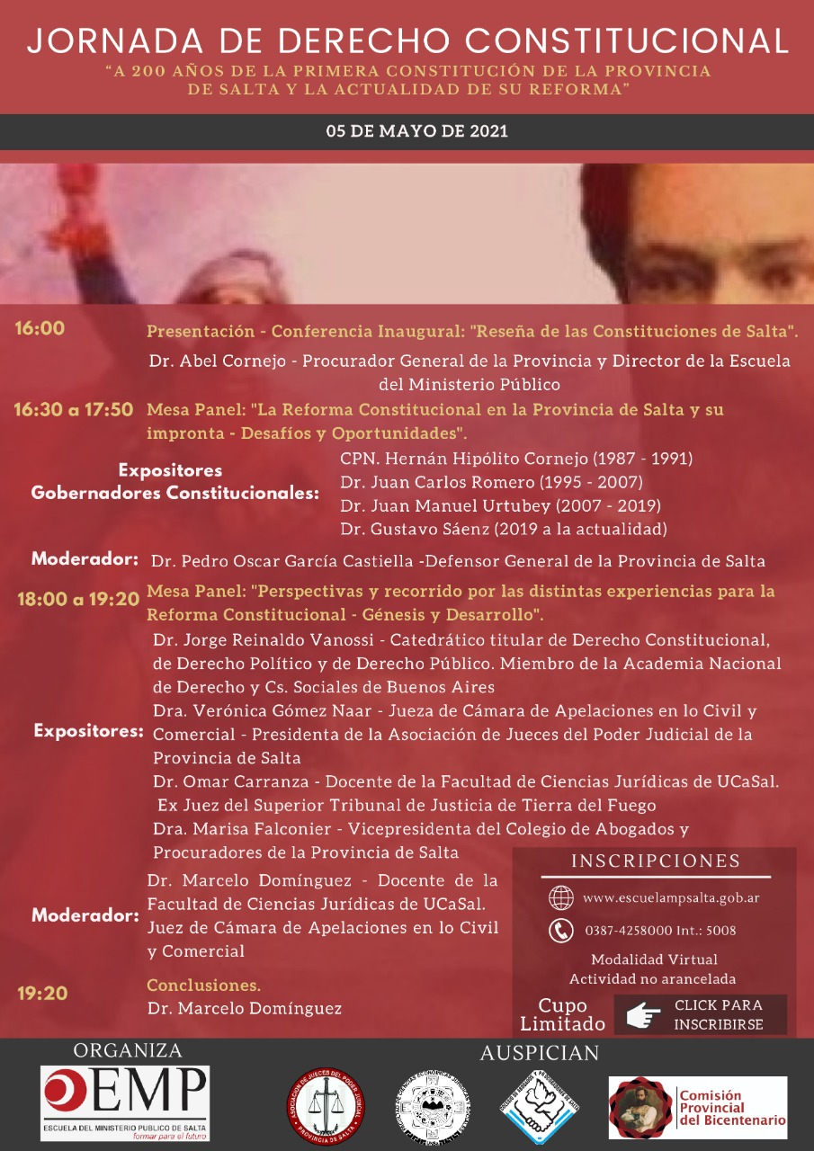 A 200 años de la primera Constitución de la Provincia de Salta y la actualidad de su reforma