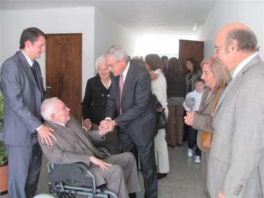 Foto: El Dr. Gillermo Posadas despide al Dr. Ricardo Reimundín