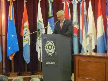 Foto: El presidente de la Corte de Justicia, Guillermo Posadas, destacó la capacitación judicial
