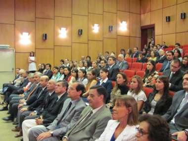Foto: Jueces de Corte, magistrados y funcionarios participaron de la clausura del año académico.