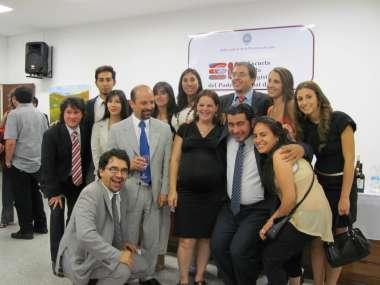 Foto: Alumnos junto al Director del Departamento de Formación Inicial, Francisco Mascarello.