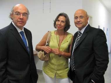 Foto: Doctores Abel Cornejo, Mónica Faber y Federico Diez.