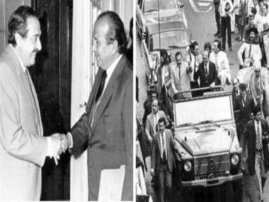 Foto: El ex presidente de la Nación,Raúl Ricardo Alfonsín, y el ex gobernador de Salta, Roberto Romero.