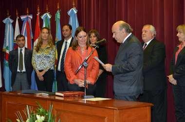 Foto: María Inés Diez jura en representación del Ministerio Público