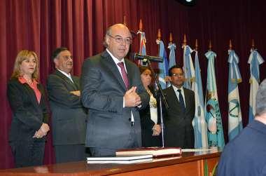 Foto: Abel Cornejo comprometió un trabajo de cara a la ciudadanía