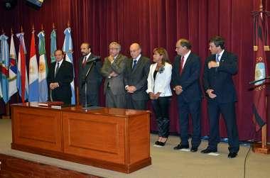 Foto: Representantes de la Honorable Cámara de Diputado en el acto de jura