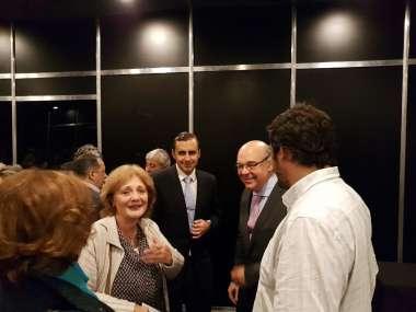 Foto: Abel Cornejo junto a invitados a la convocatoria del Ministerio de Cultura y Turismo