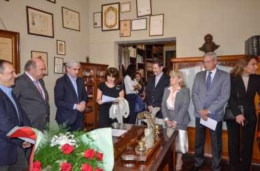 Foto: Acto de designación del Dr. Cornejo como Director Honorario