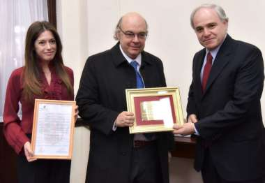 Foto: Abel Cornejo, Matías Cánepa y Jaqueline Cobos