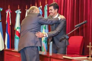 Foto: El Gobernador de la Provincia Dr. Juan Manuel Urtubey y el Dr. Abel Cornejo