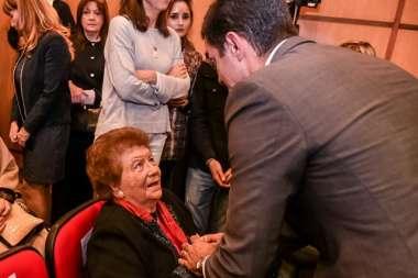 Foto: La Sra. Alicia Castellanos y el Gobernador de la Provincia Dr. Juan Manuel Urtubey