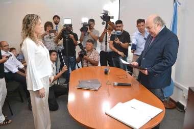 Foto: El Señor Procurador General junto a la Señora Fiscal Penal María Luján Sodero Calvet