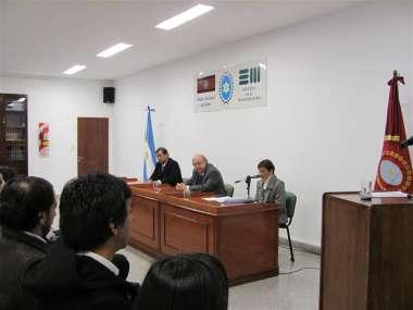 Foto: La juez de Corte Graciela Susana Kauffman hace uso de la palabra