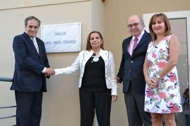 Foto: Dr. Pedro García Castiella- Señora Ana Fernández- Dr. Abel Cornejo- Dra Mirta Lapad