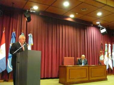 Foto: El vicepresidente de la Corte, Guillermo Catalano, encabezó el acto.