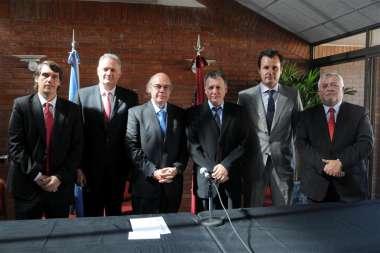 Foto: Funcionarios nacionales y provinciales interesados en las Jornadas