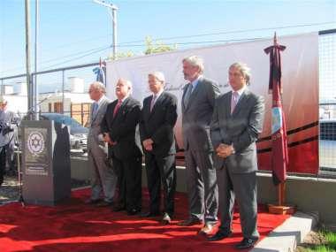 Foto: El Dr. Guillermo Posadas encabezó el acto, acompañado por sus pares