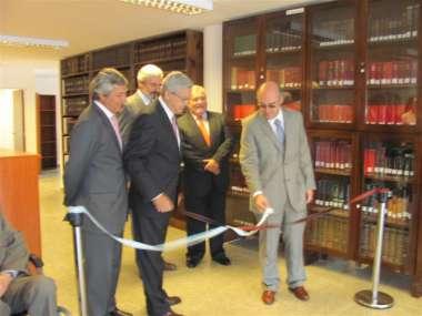 Foto: Los jueces de la Corte fueron los encargados de hacer el corte de cintas