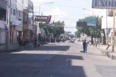 Policía de Salta realizando las pericias