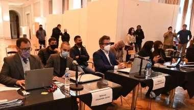 Imagen del primer día del juicio. Foto: Qué digital