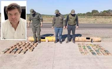 Francisco Snopek, fiscal general de la Unidad Fiscal Salta. Gendarmes junto a la droga oculta en los cilindros.