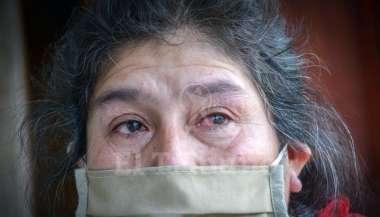 Evelia Zerpa pide por favor que ayuden a buscar a su hijo extraviado en la Quebrada del Toro. Pablo Yapura