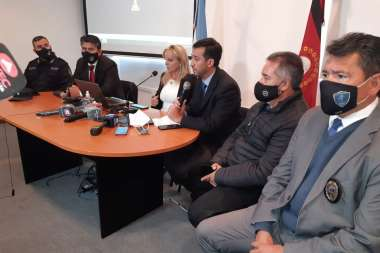 Ana Salinas Odorisio, en la conferencia convocada ayer por el MPF.